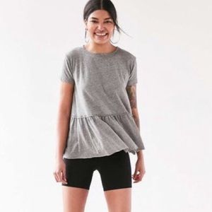 urban outfitters   truly madly deeply grey peplum